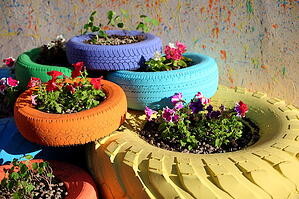 You can get creative to reuse your old tires.