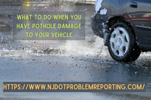 What to do when you have pothole damage to your vehicle