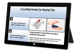 5 Certified Honda Car Buying Tips