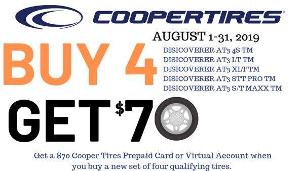 cooper BUY 4 GET 70
