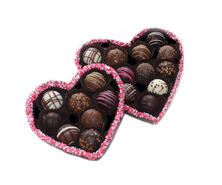 edible heart box with truffles medium & large