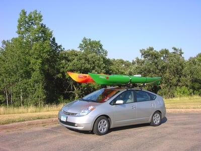 toyota with kayak