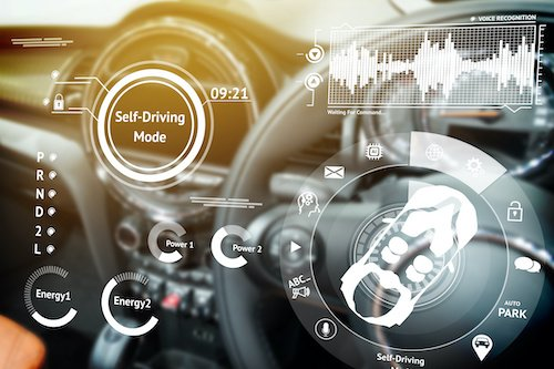Futuristic vehicle dashboard