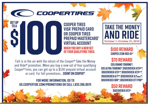October 2018 Cooper Tires