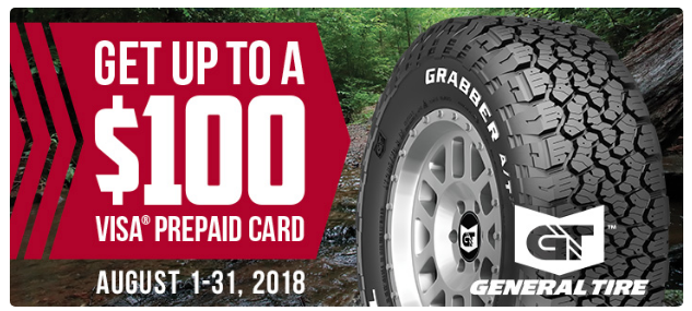 Buy General Tires Get Up To A 100 Prepaid Card