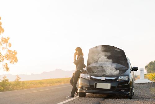 broke down car and women