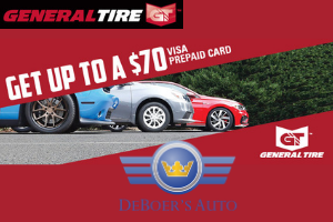 general tire up to $70 offer