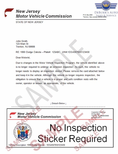 New Jersey state inspection requirements are changing.